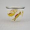 Ulrica hydman-vallien, a unique glass bowl, boda, signed.