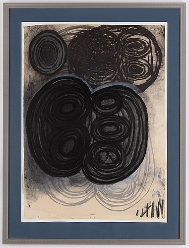 Terry winters, lithographs in colours, 11, 1985-1986, signed. first lithograph numbered 26/39.