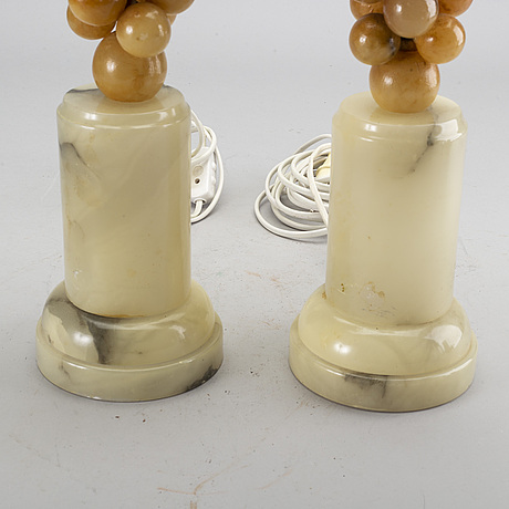 A pair of italian table lamps 1960's.