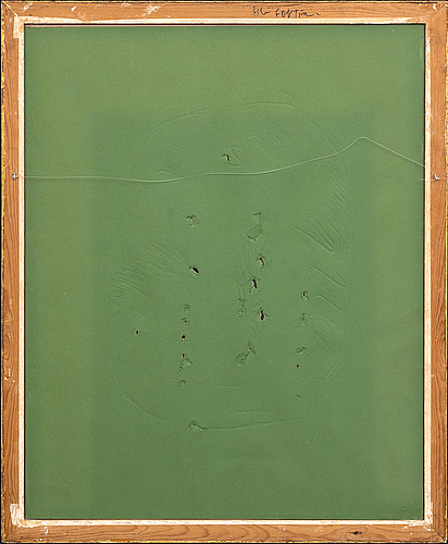Lucio fontana, a signed and numbered etching with relievo and perforation.