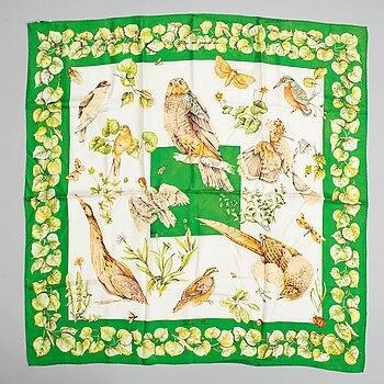HERMÈS, silk scarf, 'La Vie au Grand Air'.