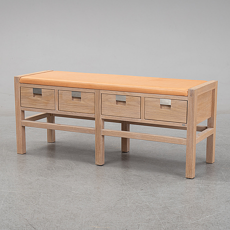 An oak 'roma' bench with drawers, gad.