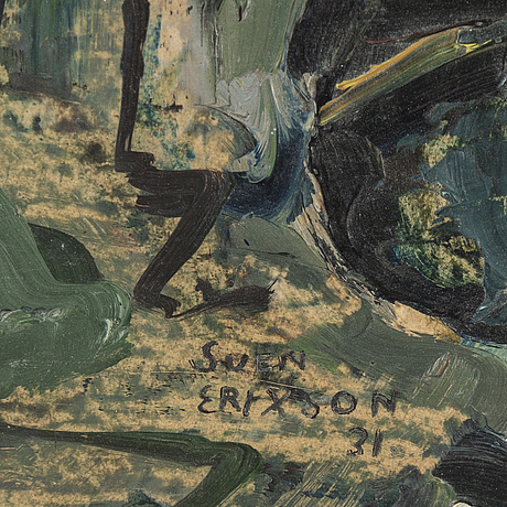 Sven x:et erixson, oil on paper-panel, signed and dated -31.