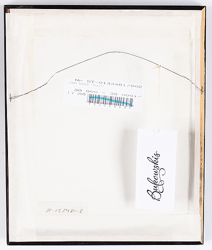 John bauer, lithograph, numbered 7. signed john bauer in pencil.