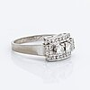 Diamond ring 18k whitegold brilliant and single-cut diamonds 0,53 ct in total inscribed.