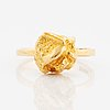 "Björn weckström, 18k gold ring, ""yellow rose""."