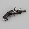 A 18th century flintlock pistol.