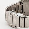 Cartier, santos 100, wristwatch, 38 x 38 mm.