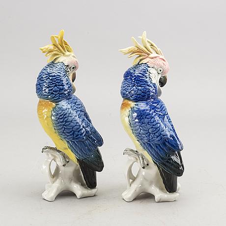 Karl ens, porslin, figuriner 2 st, tyskland, tidigt 1900-tal.