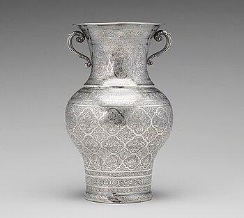 233. Vas, silver, Persien Isfahan, sen Qajardynasti.