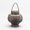 Korg med lock, ifuago, filipinerna enligt uppgift 1800-tal.
