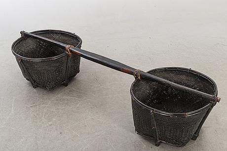 Dubbelkorg,  bontoc, filippinerna enligt uppgift 1800-tal.