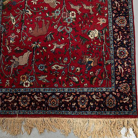 A carpet, oriental, figural, ca 199 x 119 cm.