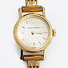 Jaeger-le coultre wrist watch, 18k gold, 15 mm, manual, strap metal.