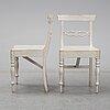 A set of six swedish 19th century chairs.