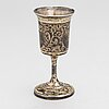Footed beaker in silver-gilt niello, moscow 1845. unidentified maker. assay master andrey antonovich kovalsky.