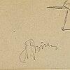 Ilja jefimovitj repin, a pencil drawing, signed and numbered  19.