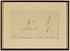 Ilja jefimovitj repin, drawing in pencil, signed, numered 2 and dated 1883.