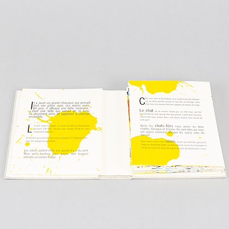 Bengt lindström, book/portfolio with 36 lithographs in colour, signed on cover page 93/100.