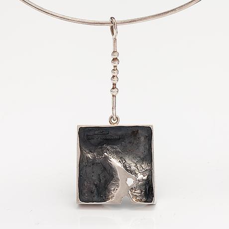 Jorma laine, a sterling silver necklace. kultateollisuus, turku 1974.