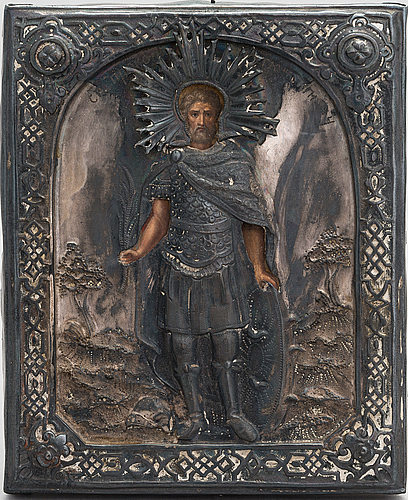 A russian icon dated 1868 st. petersburg.