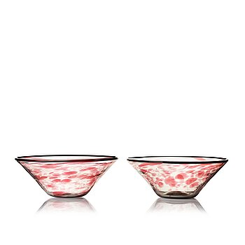 4. Simon Gate, a pair of glass bowls, Orrefors, Sweden ca 1930.