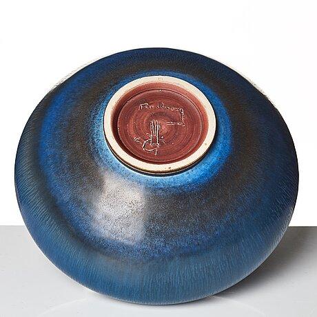 Berndt friberg, a stoneware vase, gustavsberg studio, sweden 1969.