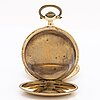 Pocketwatch, hunting case, 14 k, c:a 55 mm, and chain 18k.
