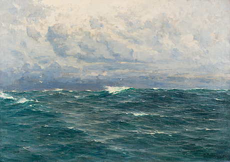 Woldemar toppelius, oil on canvas, signed and dated 1914.