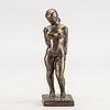 Helge högbom, bronze, sculpture.