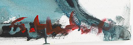 Göran hausenkamp, acrylic on canvas, signed.