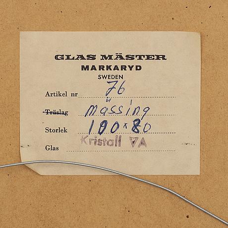 Spegel, glas mäster, markaryd, 1900-talets andra hälft.