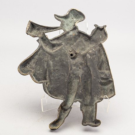 Relief, brons, okänd konstnär, 1900-tal.