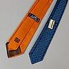HermÈs, two silk ties.