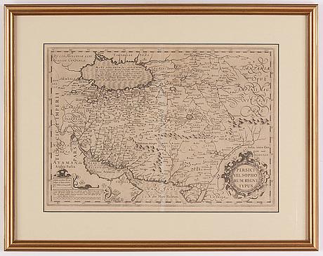 Karta, av gerhard mercator,  troligen 1600-tals avdrag.