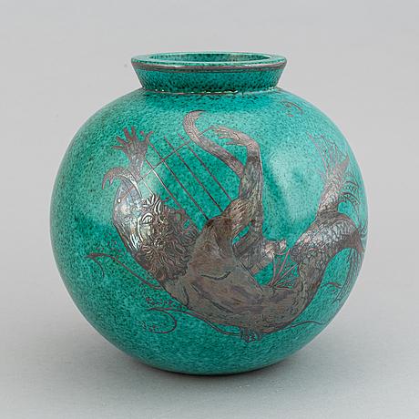 A wilhelm kåge stoneware vase, for gustavsberg.