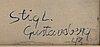 Stig lindberg, water color signed gustavsberg -43.