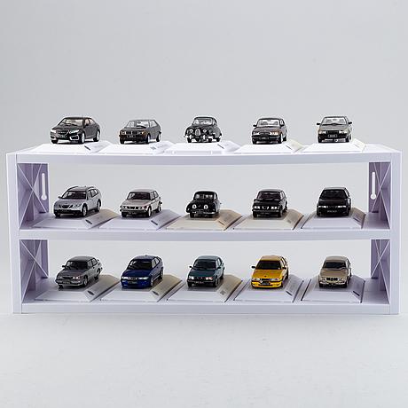 """Modellbilar, 30 st, """"saab car museum""""."""