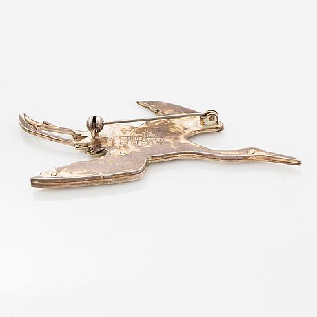Wiwen nilsson, silver brooch.