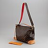 Louis vuitton, 'berri mm' bag with 'animal mng camel' strap.