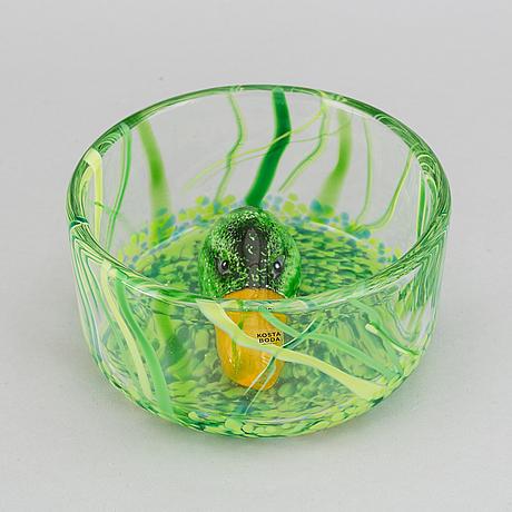A ernst billgren glass bowl, for kosta boda.