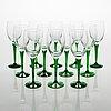 A set of 12 'traviata' wine glasses, nuutajärvi.
