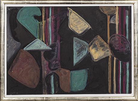 Johan scott, akryl på papper, signerad j scott -89.