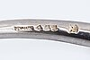 """Bangle, georg jensen, """"offspring"""" sterling silver, ca 50 g, innercircumference approx 19 cm."""