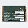 "Rolex, gmt-master ii, ""3186-movement"", ""rectangular dial""."