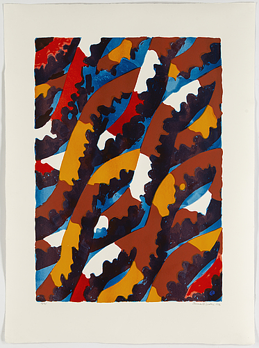 Lennart rodhe, silkscreen in colours, 1976, signed 63/75.