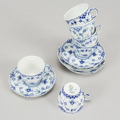 Royal copenhagen, a part 'musselmalet' coffee and dinner service, denmark (53 pieces).
