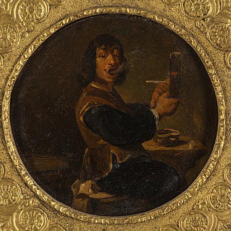 Adriaen brouwer, follower of, oil on panel.