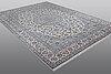 A carpet, nain, part silk, 6 laa, ca 371 x 258 cm.