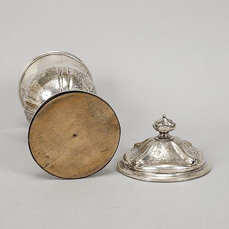 A silver cup, northern europe, 19th century.